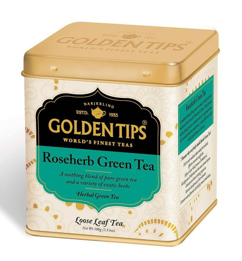 RoseHerb Green Tea, Tin Can/Зеленый 100г