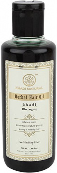 Кхади масло для волос Брингарадж, 210 мл. Khadi Bhringraj Herbal Hair Oil.
